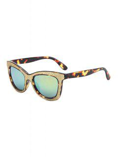Leopard Glitter Powder Frame Sunglasses