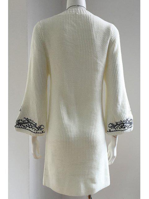 Robe à manches courtes en molleton - Blanc Taille Unique(S'adap Mobile