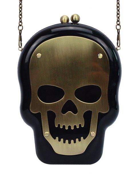 Sac de soirée en forme de la tête de mort avec design de chaîne - Noir  Mobile
