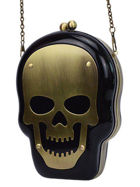 trendy Skull Shape Kiss Lock Chains Evening Bag -   Mobile