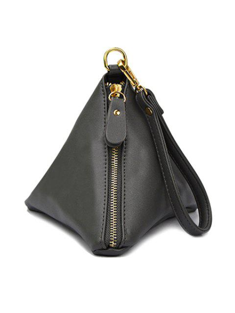 Forme solide Couleur Tassel Triangle Pochette - Gris  Mobile