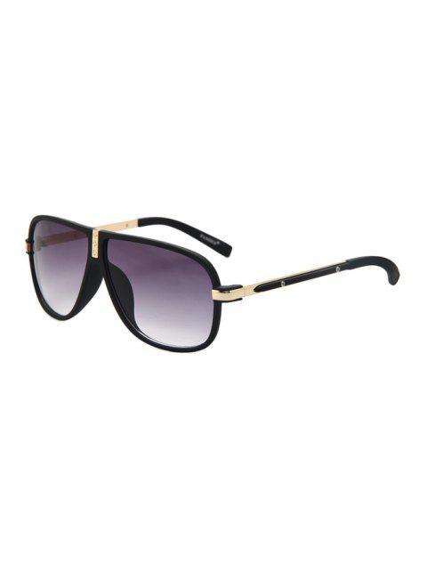 fashion Big Frame Sunglasses - GOLDEN  Mobile