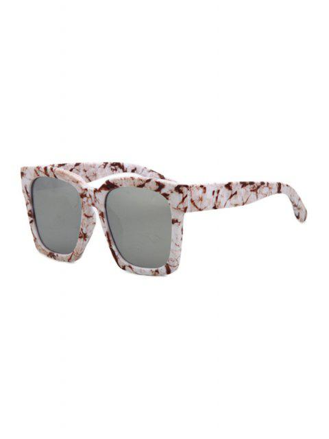 unique Stone Pattern Quadrate Sunglasses - WHITE  Mobile
