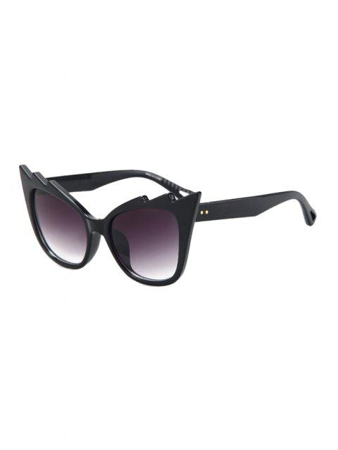 hot Black Cool Cat Eye Sunglasses - PURPLE  Mobile