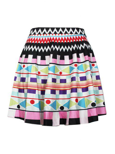 best Digital Print High Waisted Pleated Skirt - COLORMIX ONE SIZE(FIT SIZE XS TO M) Mobile