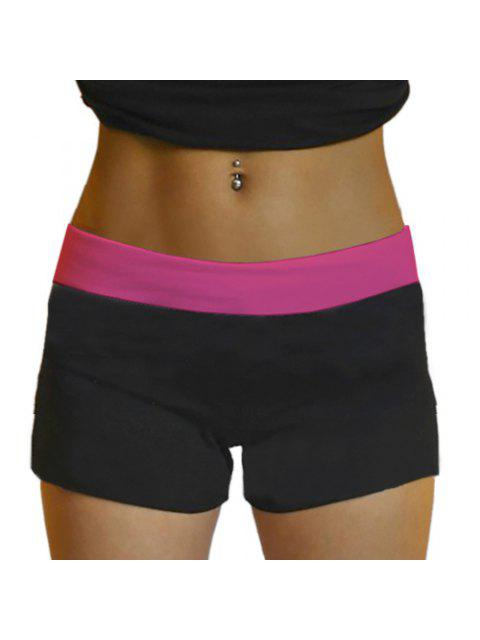 Yoga Shorts Style Active taille élastique Skinny Black Women - Rose Taille Unique(S'adap Mobile