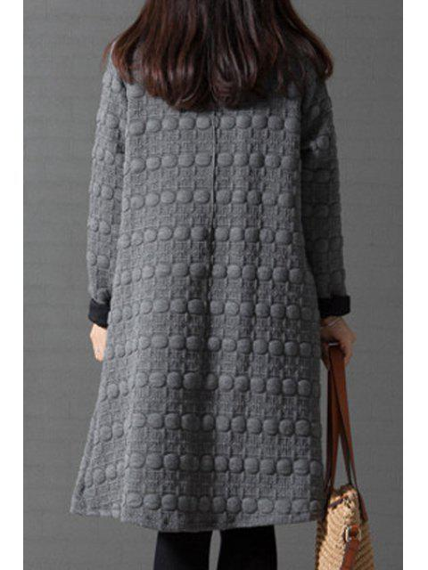 shops Turtleneck A-Line Thermal Dress - GRAY 2XL Mobile