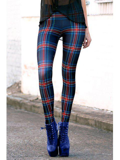 hot Checked High Waisted Slimming Leggings - COLORMIX ONE SIZE(FIT SIZE XS TO M) Mobile