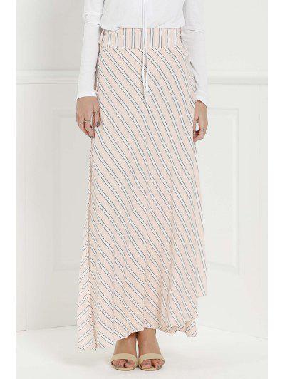 Striped Pink High Waisted Skirt