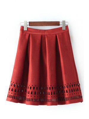 Ahuecar Una Falda De Línea - Rojo S