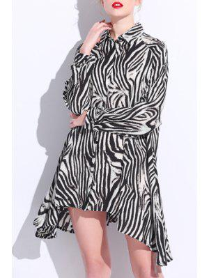 Camisa De Impressão Com Leopardo Camisa De Moldura Em Forma De Colar Loose Fitting - Leopardo 3xl