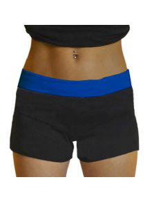 Yoga Shorts Style Active Taille élastique Skinny Black Women - Bleu