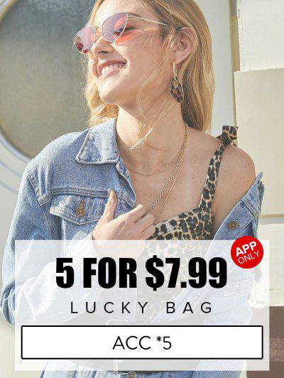 ZAFUL Lucky Bag - 5 Random Item Included - Only Jewelry & Hair Accessories Category - Limited Quantity - Multi