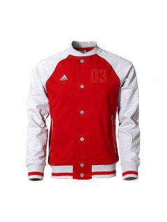 100% Original 2015 New Adidas  Men's Casual Sports Baseball Jacket - Red 2xl