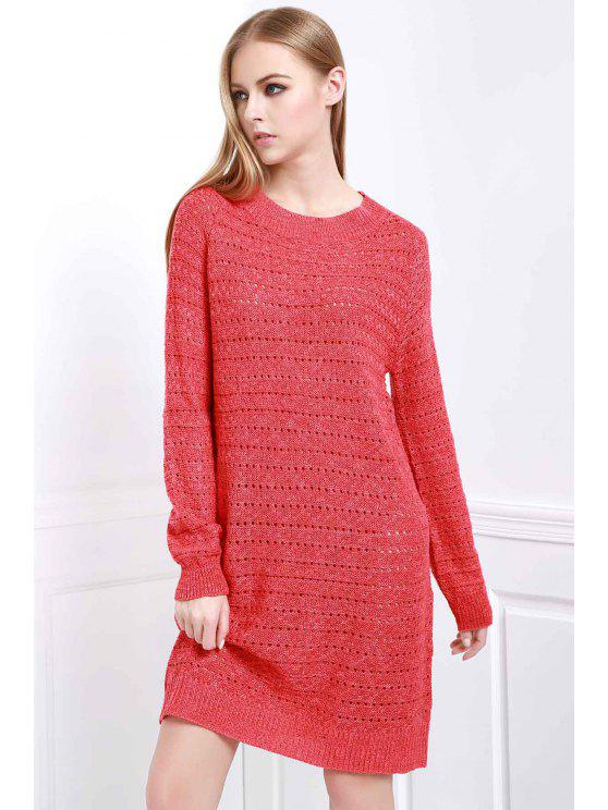 13c4437ee8d affordable Loose-Fitting Sweater Dress - RED ONE SIZE(FIT SIZE XS TO M
