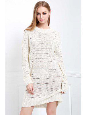 Vestido Suéter Suelto - Blanco