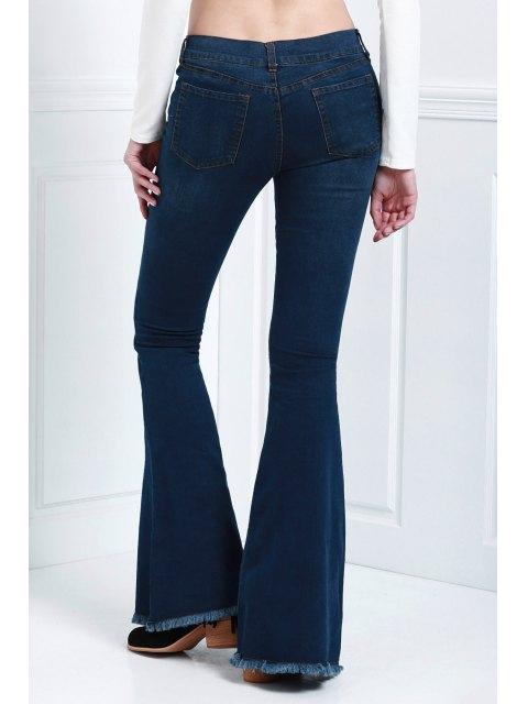 trendy Denim Super Flare Jeans - DEEP BLUE XL Mobile