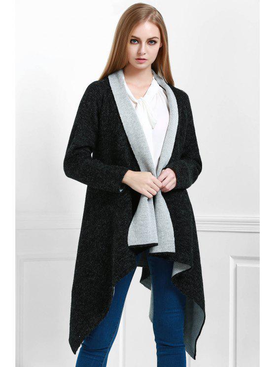 outfits Shawl Neck Irregular Hem Cardigan - DEEP GRAY ONE SIZE(FIT SIZE XS TO M)