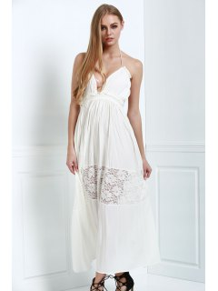 White Spaghetti Straps Maxi Dress - White S