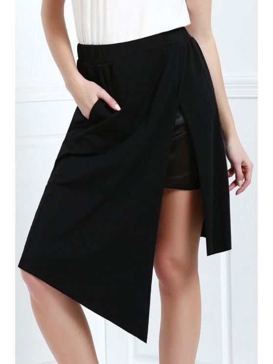 تنورة توهج عالية الخصر - أسود L