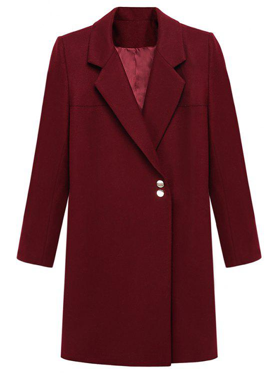 sale Red Lapel Neck Long Sleeve Blazer - RED S