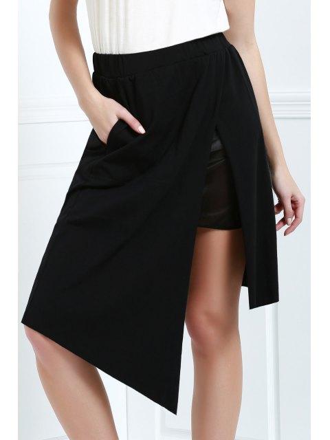 shops Asymmetric Skirt - BLACK L Mobile