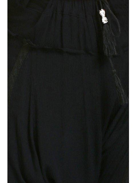 outfits Drawstring Capri Harem Pants - BLACK S Mobile