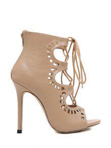 Cross Strap Design Peep Toe Schuhe für Frauen