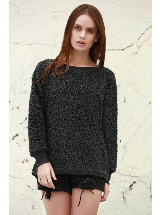 hot Leopard Print Long Sleeves Sweatshirt - GRAY S