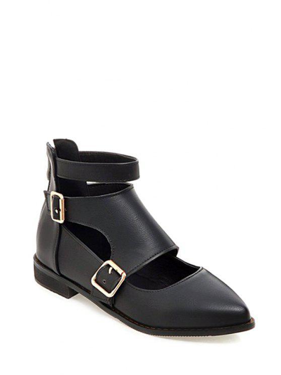 hebillas hebillas zapato negro negro plano plano zapato F775w8