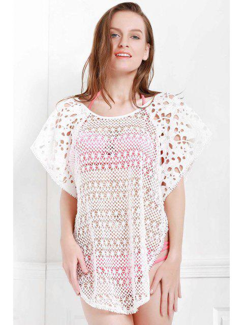 Évider Scoop Neck Cover-Up - Blanc M Mobile