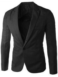 Casual Tailored Collar Single Button Solid Color Blazer For Men - Black 2xl