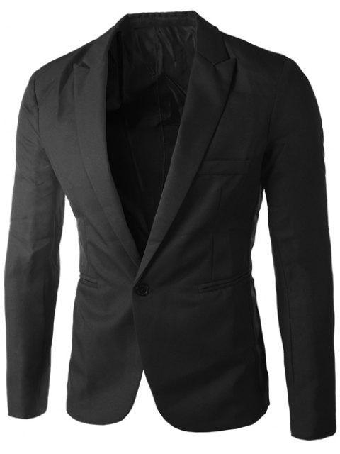 Lässige Tailored Collar Single Button Solid Color Blazer für Männer - Schwarz 2XL Mobile