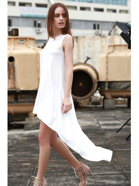 women White High-Low Hem Sundress - WHITE L Mobile
