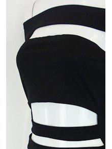 schulterfreies cut out club kleid schwarz abendkleider m zaful. Black Bedroom Furniture Sets. Home Design Ideas