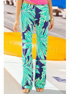 Coconut Tree Print Exumas Pants - Neon Green L