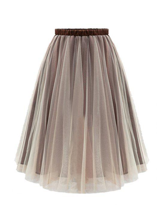 new Ball Gown Voile Skirt - BROWN XL