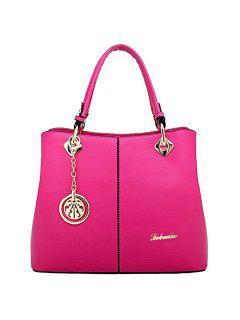 Moda PU Y Bolsa De Tela Colgante De Diseño De La Mujer - Rosa