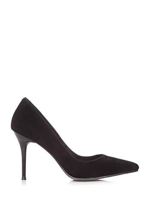 women's Solid Color Pointed Toe Stiletto Heel Pumps -   Mobile
