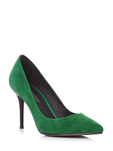 outfits Solid Color Pointed Toe Stiletto Heel Pumps -   Mobile