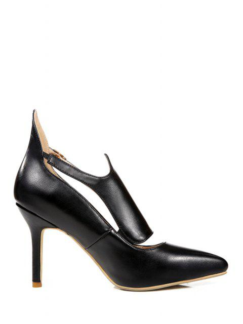 affordable Buckle Solid Color Pointed Toe Pumps -   Mobile