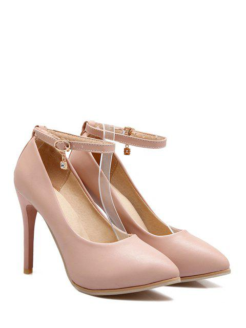 affordable Pendant Ankle Strap Stiletto Heel Pumps -   Mobile
