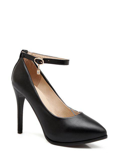 hot Pendant Ankle Strap Stiletto Heel Pumps -   Mobile