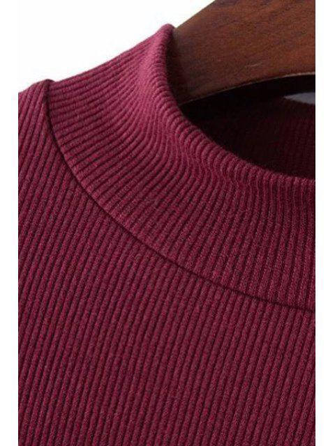 sale Thread Solid Color Round Neck Short Sleeve T-Shirt - BLACK M Mobile