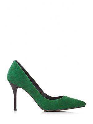 Solide Couleur bout pointu Pompes Stiletto Heel