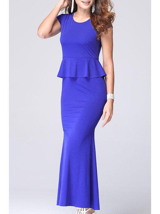 ccfc0ea9b 27% OFF] 2019 Short Sleeve Peplum Top + Fishtail Skirt Twinset In ...