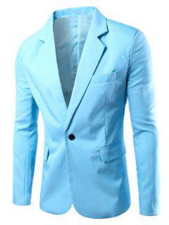 Spring Summer Basic Men Blazer - Light Blue 3xl