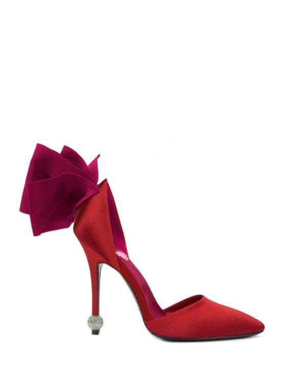 Bow Two-Piece Pointed Toe Pumps - Rouge 37