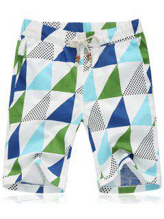 Ata Para Arriba Los Flojos Pantalones Quinta Triángulo Playa De La Impresión Pantalones Cortos Para Los Hombres - 5xl