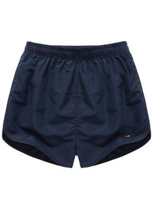 Sencilla cintura elástico sólido pantalones cortos para hombres de color